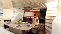 Yacht PAMPERO -  Aft Deck Al Fresco Dining