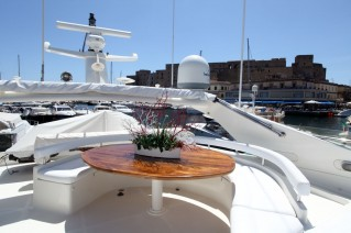 Yacht PAMPERO -  Flybridge Dining