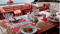Yacht PHILOSOPHY -  Aft Deck Al Fresco Dining