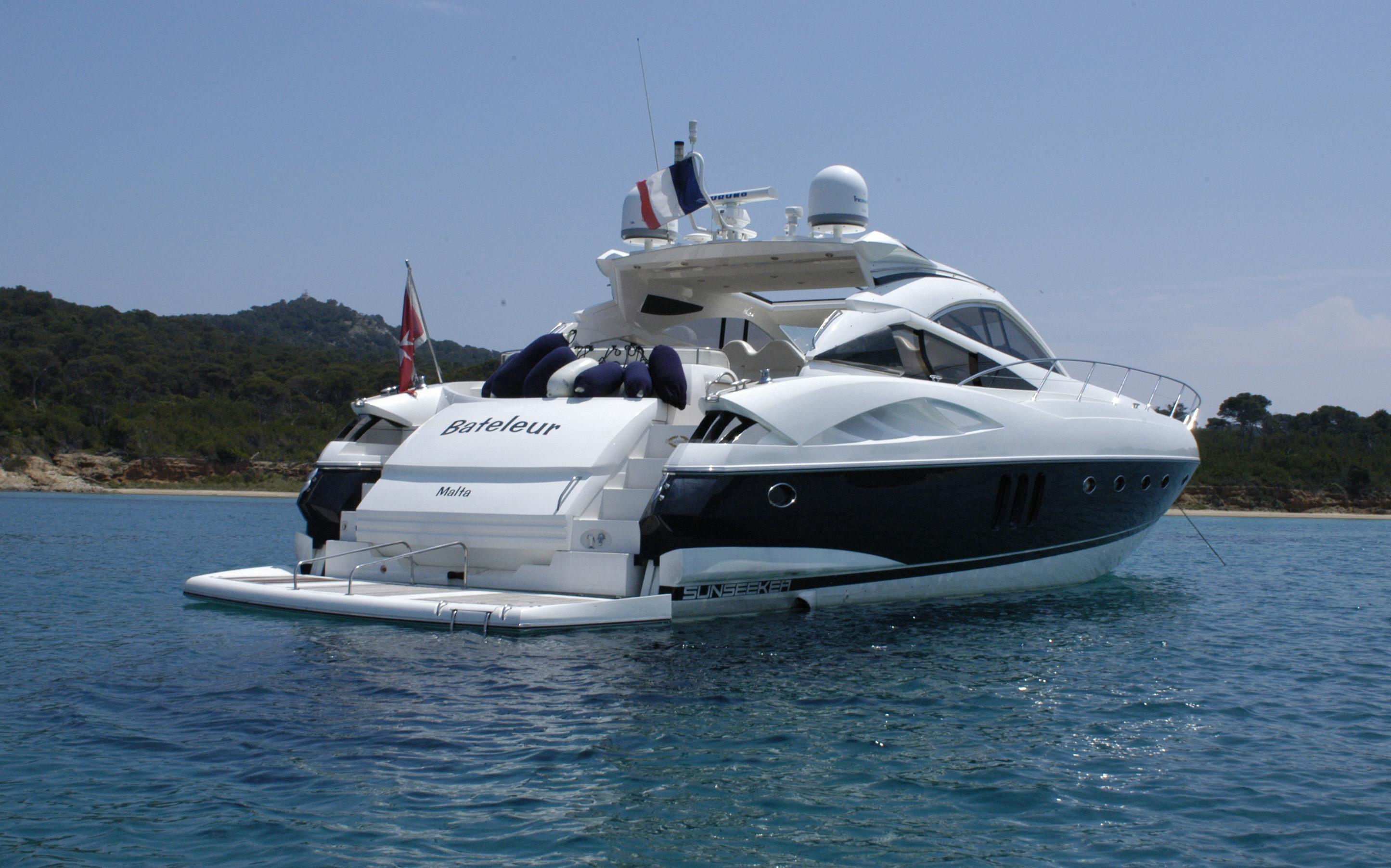 REHAB Yacht Charter Details Sunseeker Predator 68
