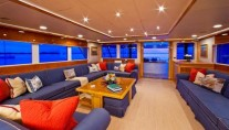Yacht RENA -  Main Salon looking Aft