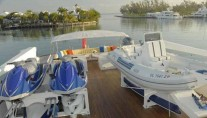 Yacht RENA -  Tender and Jet Skis on Sundeck