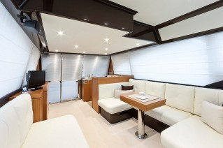Yacht SEANERGY -  Salon looking Aft