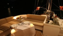Yacht SERENITY 70 -  Aft Deck at Night