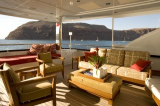 Yacht SEVEN Js  -  Aft Deck Seating
