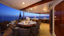 Yacht SHERAKHAN - Exterior Dining