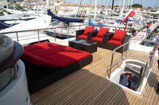 Yacht SILVER FOX -  Flybridge Sunbeds