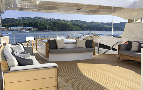Yacht SOLARIS - Deck Looking Aft