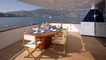 Yacht SOLONA -  At Deck Dining