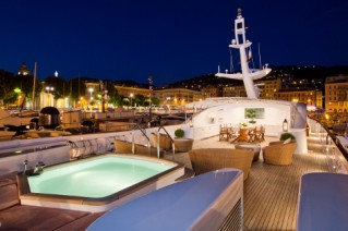 Yacht SOPHIE BLUE -  Sundeck at Night