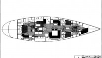 Yacht SOUTH WIND -  Layout
