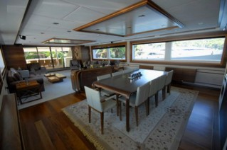 Yacht STEEL -  Dining and Salon