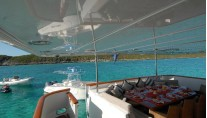 Yacht SWEET ESCAPE - Aft Deck Dining