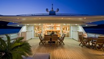 Yacht TITAN -  Sundeck at Night