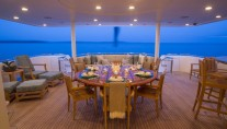 Yacht TRISARA -  Aft Deck Dining