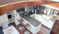 Yacht ZION -  Lower Salon and Galley