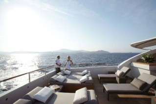 Yacht taTii - the upper sundeck