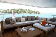 ZALIV III -  Aft Deck Seating