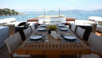 ZALIV III -  Dining on Upper Deck