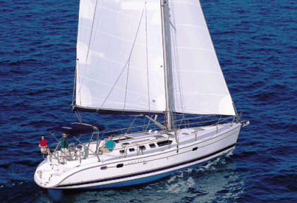 Hunter 466 sailing boat