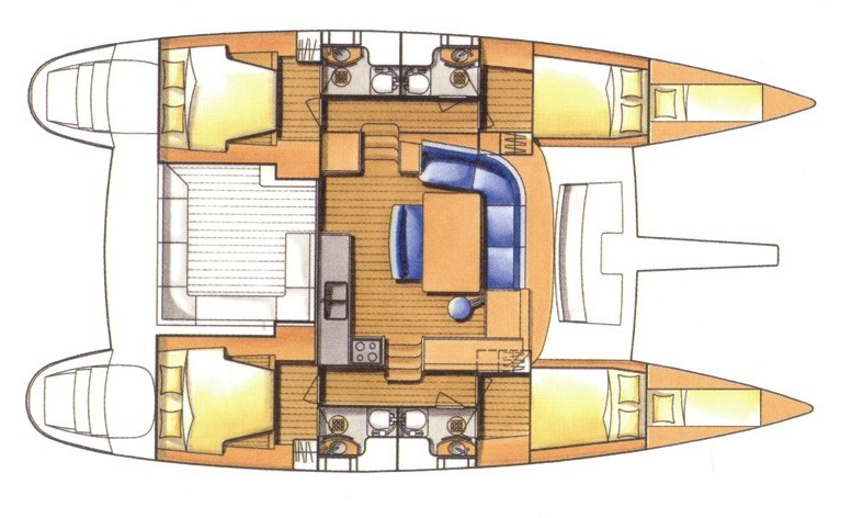 lagoon 440 catamaran lagoon440 layout luxury yacht
