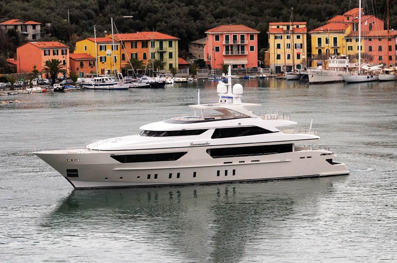 The vessel is the new flagship of San Lorenzo's fleet. The yacht is ...