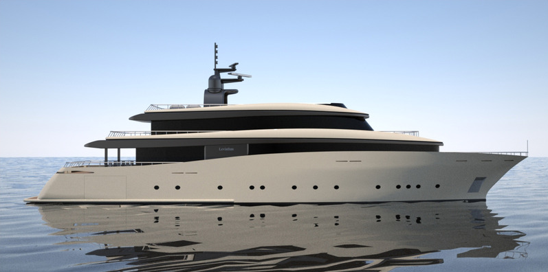 Super yacht Leviathan designed by 2pixel studio