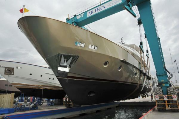 Motor yacht GENIE 2 is the 1th hull from the San Lorenzo yard, ...