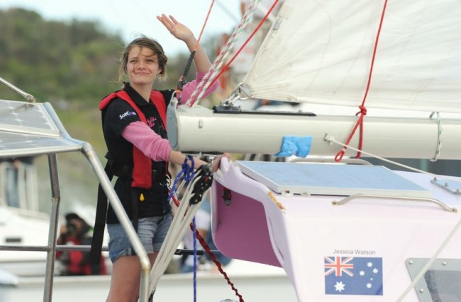 Just two days shy of her 17th birthday, Watson sailed her 10-metre yacht ...