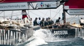 Louis Vuitton Trophy, Day 6. TeamOrigin (GBR) vs Synergy Russian Sailing Team (RUS) -  Photo credit Paul Todd
