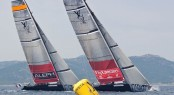 Louis Vuitton Trophy, Day6. Emirates Team New Zealand (NZL) vs ALEPH Sailing Team (FRA) - Photo Credit Bob Grieseroutsideimages.co.nz