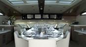 Motor Yacht NOOR Upper dining
