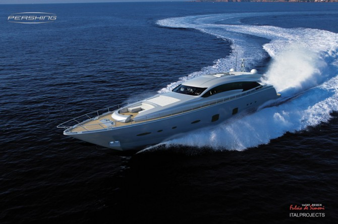 ... from 60 Pershing dealerships around the world. Pershing 108 Motor Yacht