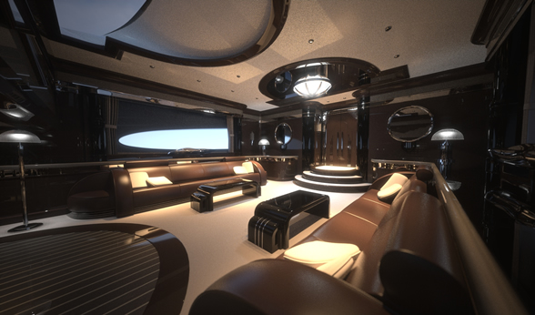 the strand craft 122 superyacht salon interior yacht charter superyacht news. Black Bedroom Furniture Sets. Home Design Ideas