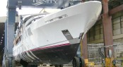 Yacht MI Sueno at launch by Trinity Yachts