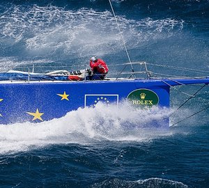 Supermaxi ESIMIT EUROPA 2 Takes Line Honours in 2010 Giraglia Rolex Cup Yacht Race from St. Tropez to San Remo