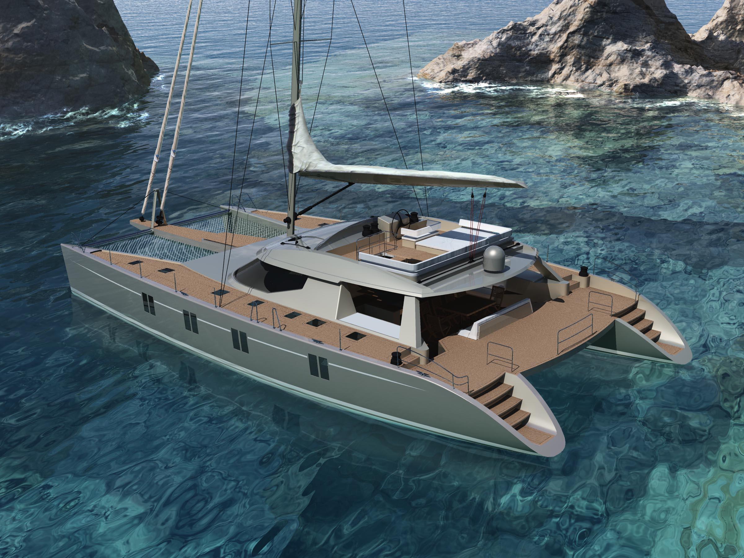 Sailing Catamaran Havana 72 designed by Berret Racoupeau Yacht Design - Image courtesy of Alu ...