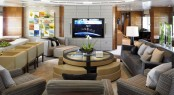 Superyacht Bacarella - Interior design - Saloon
