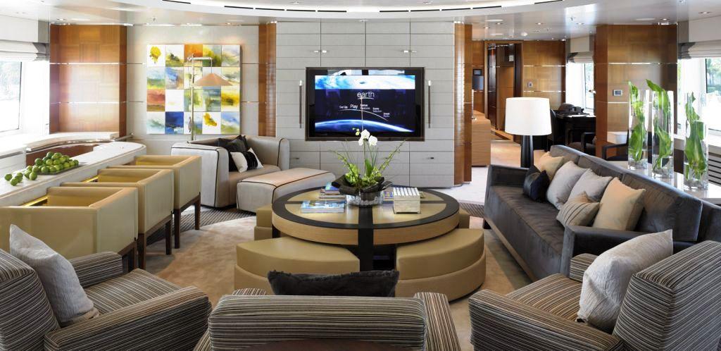 Superyacht Bacarella - Interior design - Saloon — Yacht ...