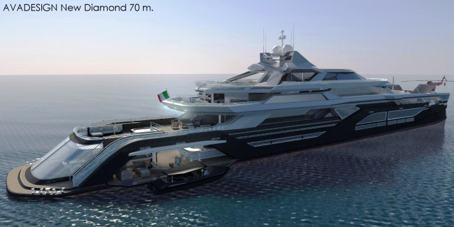 The 70m New Diamond Superyacht Design Project Yacht