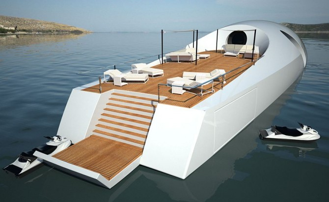 The U-010 Underwater Luxury Yacht Design Concept Deck
