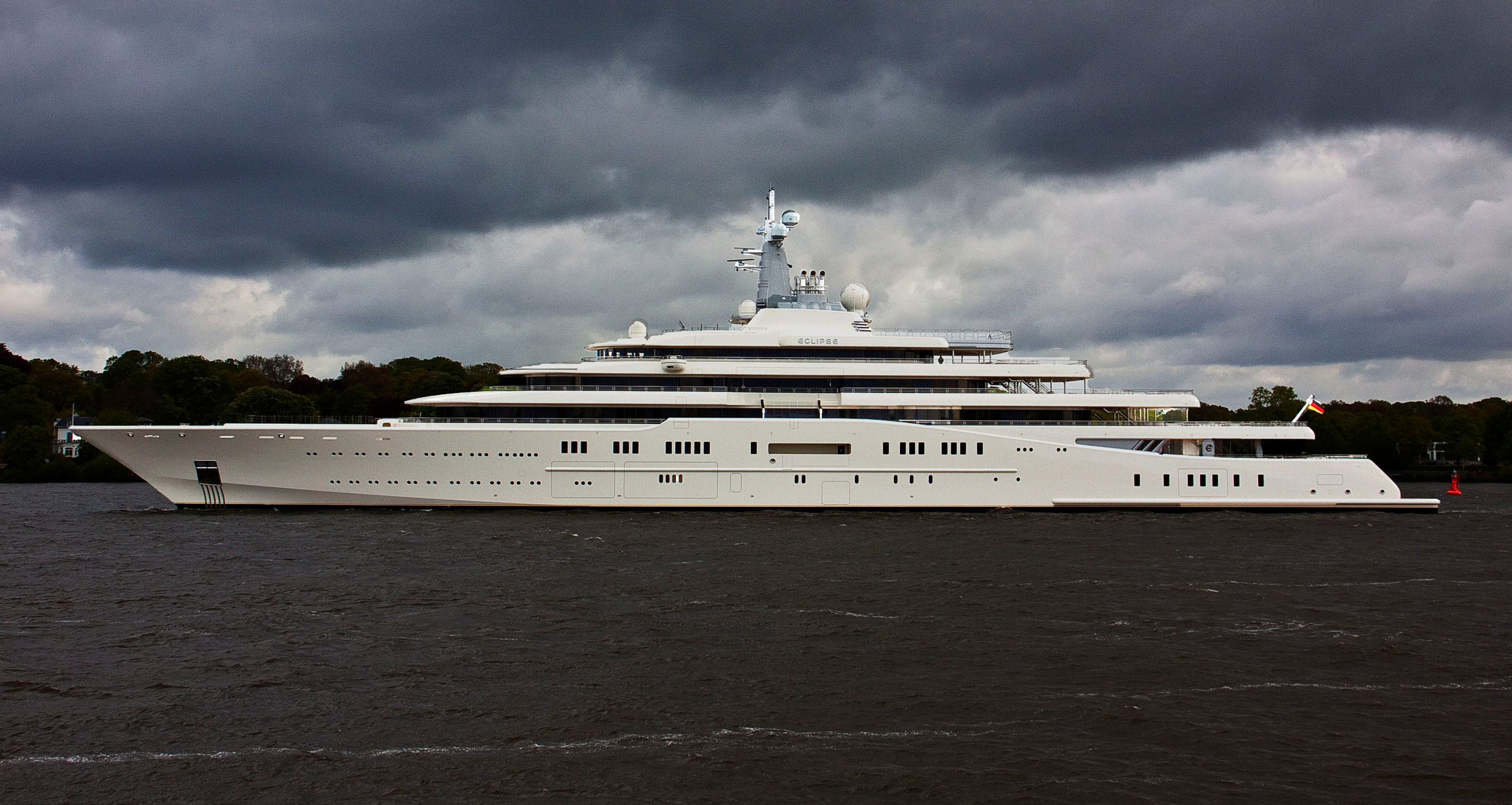 as part of the article photos of the largest superyacht eclipse