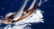 55m Sailing yacht Adela - The largest yacht  attending the 2010 Pendennis Cup