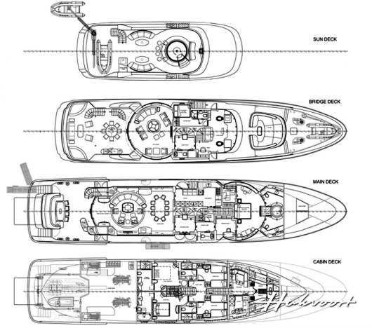 Hull YN247 Layout- Photo Credit Hakvoort Shipyard