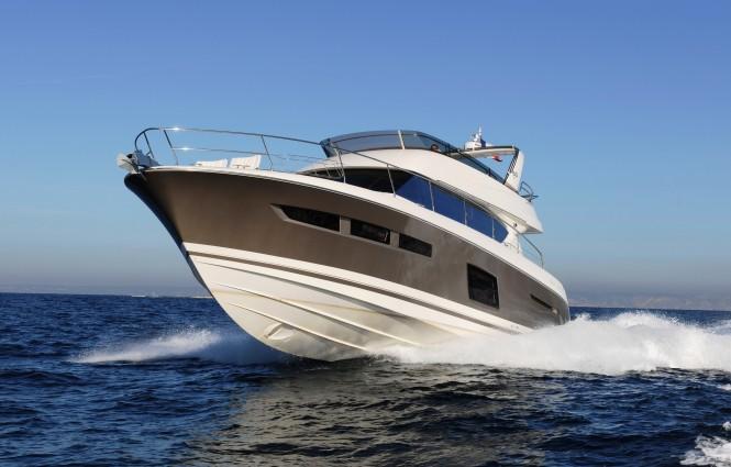 Jeanneau Prestige 60 Motor Yacht. The stern drive engine: