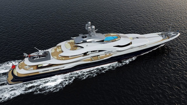 Motor Yacht Attessa IV Rendering - View from Above