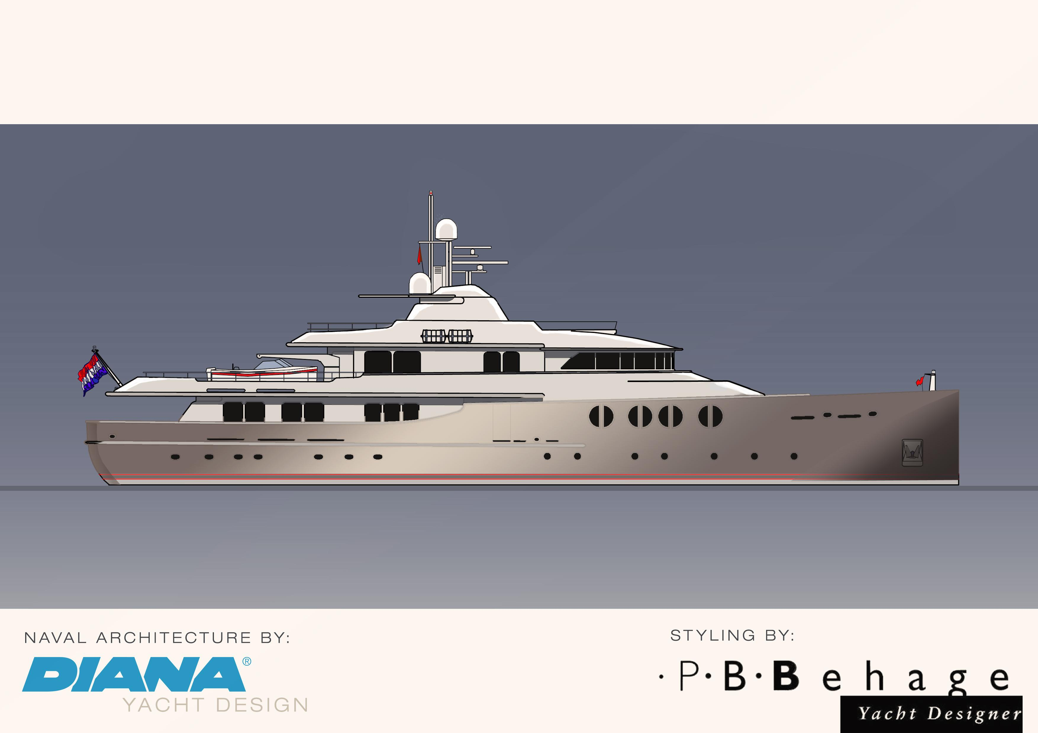 Project Nostalgic II yacht design rendering