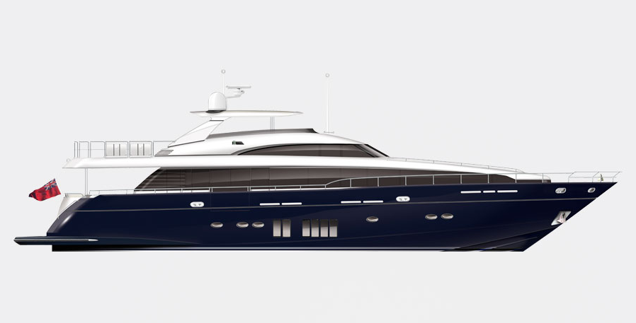 Princess Yachts 32M Yacht Rendering