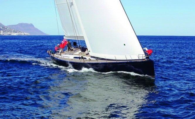 Southern Wind 100 ft Superyacht BLUES Sailing to Windward at her Positive Sea Trial