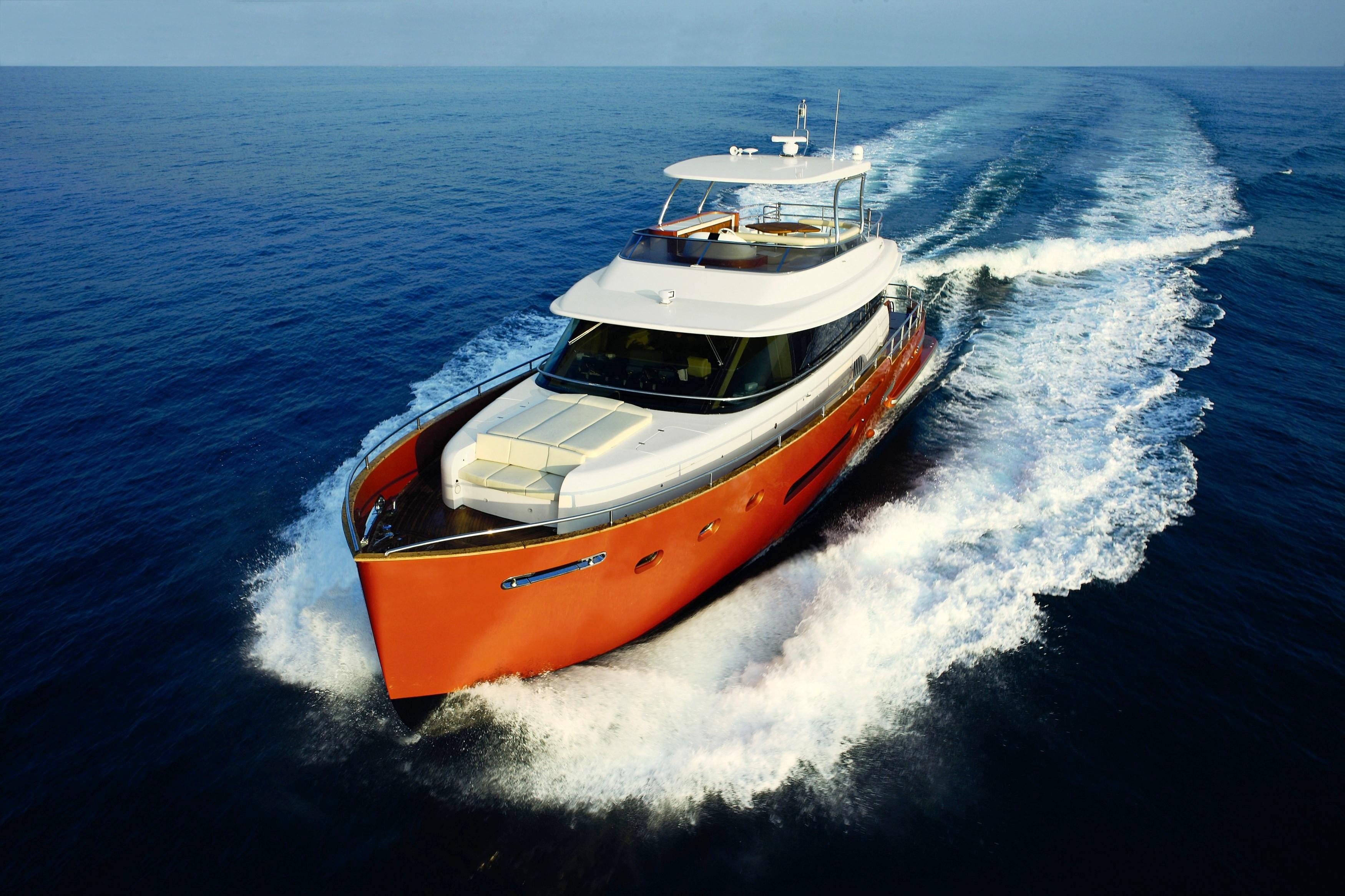 The Azimut Magellano 74 Yacht Underway